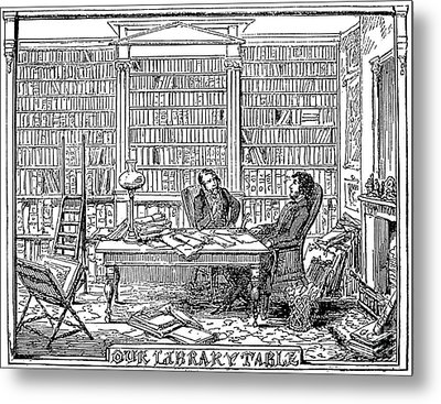 Our Library Table, 1842 Metal Print by Granger