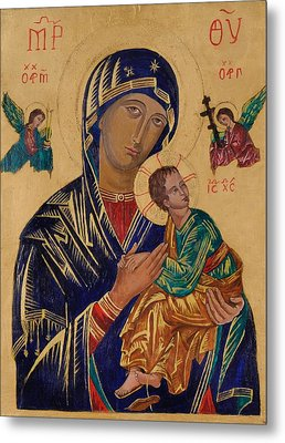 Our Mother Of Perpetual Help Metal Print by Camelia Apostol