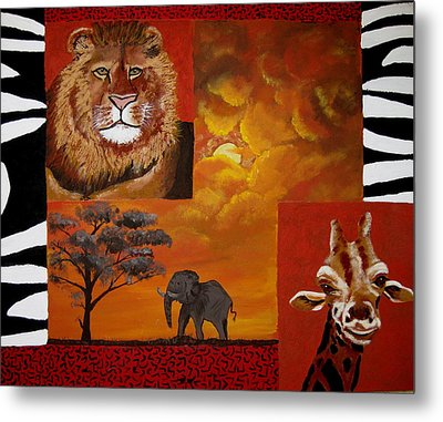 Out Of Africa Metal Print by Susan McLean Gray