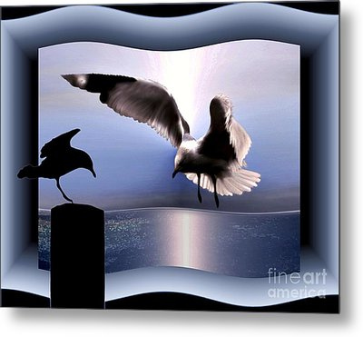 Out Of Bounds Metal Print by Dale   Ford