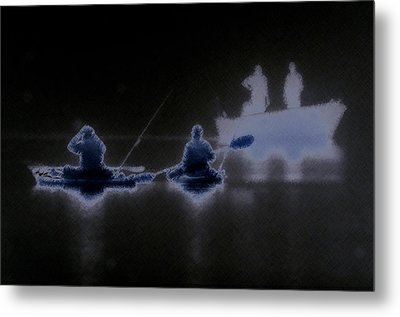 Metal Print featuring the photograph Out Of The Darkness by Myrna Bradshaw