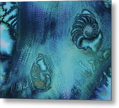 Metal Print featuring the painting Out Of The Depths by Mary Sullivan