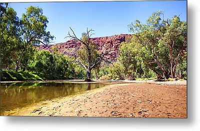 Metal Print featuring the photograph Outback River by Paul Svensen