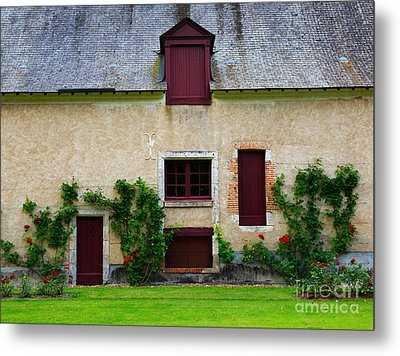 Outbuildings Of Chateau Cheverny Metal Print by Louise Heusinkveld