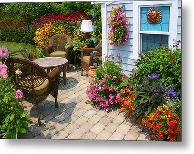Outdoor Patio Metal Print