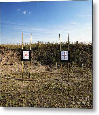 Outdoor Targets Metal Print by Skip Nall