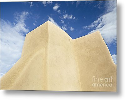 Outside Wall Of The San Francisco De Asis Mission Church Metal Print by Bryan Mullennix