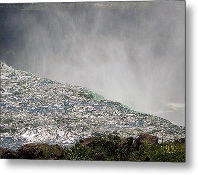 Over The Brink Of Niagara Falls  Metal Print by J R Baldini  M Photog