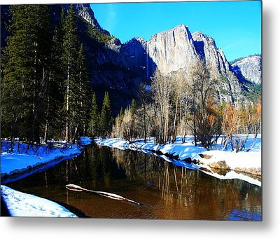 Over The Meadow Metal Print
