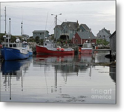 Overcast At Peggy's Cove  Metal Print by Louise Peardon
