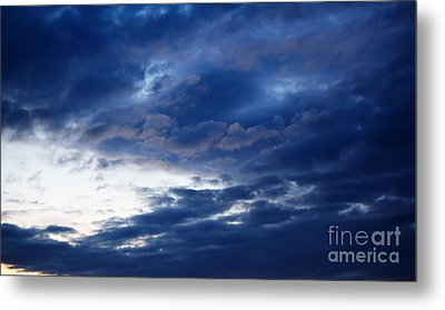 Overcast Sky In The Morning Metal Print by Gabriela Insuratelu