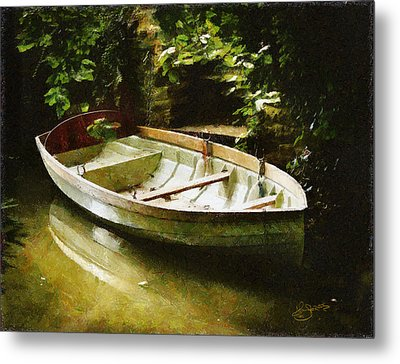 Oxford Boat And Dock Metal Print