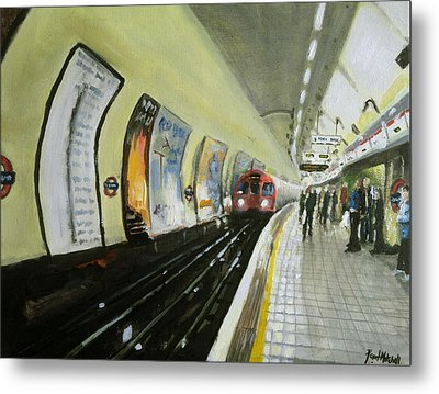 Oxford Circus Station Metal Print by Paul Mitchell