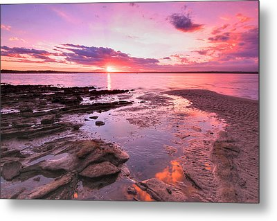 Metal Print featuring the photograph Oyster Cove Sunset by Paul Svensen