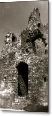 Oystermouth Castle Ruins Detail Metal Print