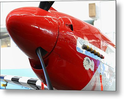 P-51b Mustang Replica Fighter Plane . 7d11160 Metal Print by Wingsdomain Art and Photography