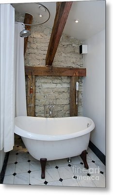 Pädaste Manor Bathtub Metal Print