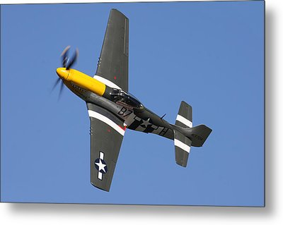 P51 Mustang Cadillac Of The Skies Metal Print