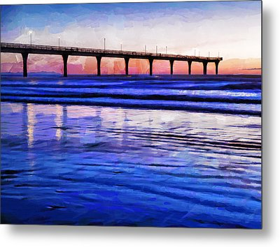 Pacific Blue  Metal Print by Steve Taylor