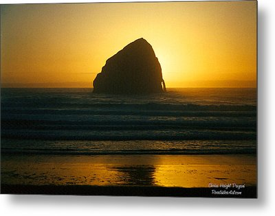 Metal Print featuring the photograph Pacific City Sunset by Chriss Pagani