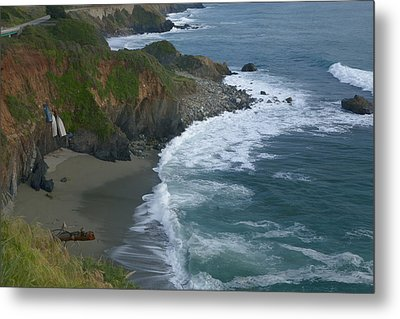 Pacific Coast California Highway 1 Seascape Metal Print by Gregory Scott