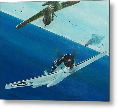 Pacific Duel Metal Print by Gene Ritchhart