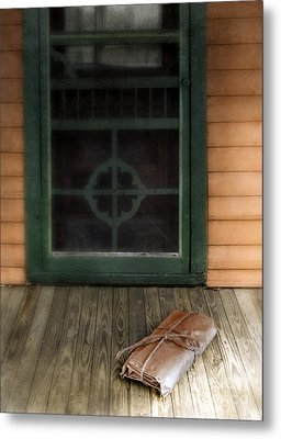 Package On Front Porch Metal Print