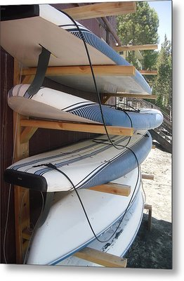 Paddle Boards Metal Print by Carol Duarte