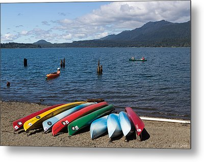Paddle Out Metal Print by Heidi Smith