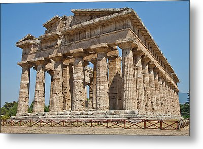Paestum Temple Metal Print by Paolo Modena