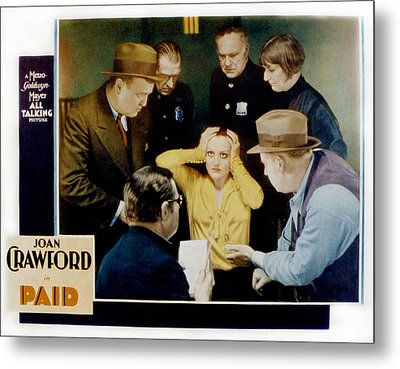 Paid, Joan Crawford Center, 1930 Metal Print by Everett