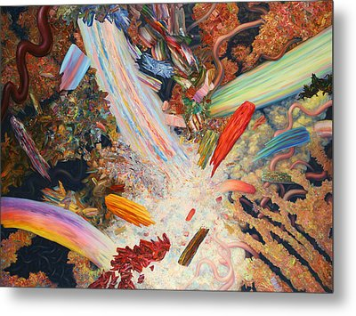 Paint Number 39 Metal Print by James W Johnson