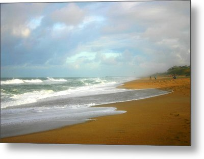 Metal Print featuring the photograph Painted Beach by Cindy Haggerty