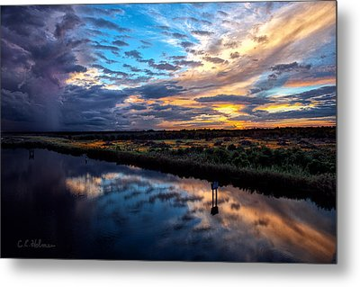 Painted Clouds Reflected Metal Print by Christopher Holmes