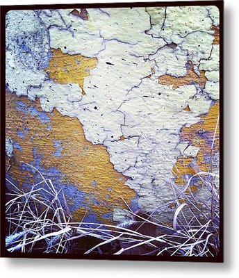 Painted Concrete Map Metal Print