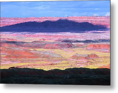 Painted Desert Cloud Shadow Metal Print