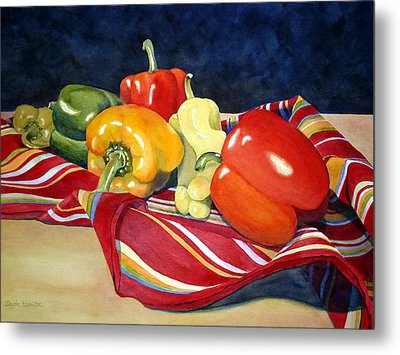 Painted Peppers Metal Print by Daydre Hamilton