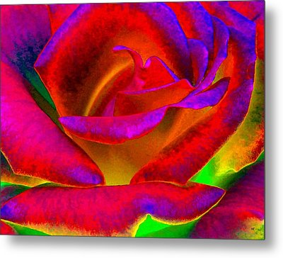 Painted Rose 1 Metal Print by Will Borden