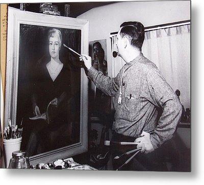 Painting A Portrait Metal Print by Bill Joseph  Markowski