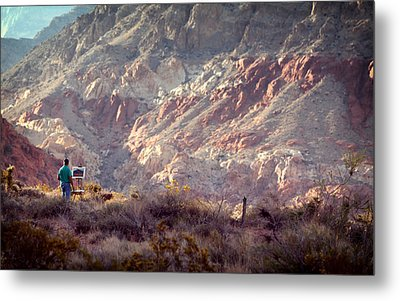 Painting Red Rock Metal Print by Cody Boor