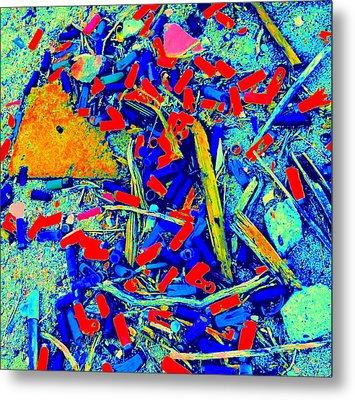 Painting With Debris Metal Print by Randall Weidner
