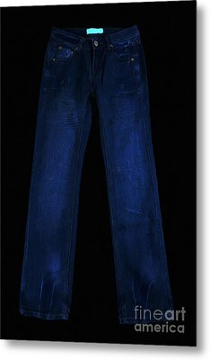 Pair Of Jeans 1 - Painterly Metal Print by Wingsdomain Art and Photography