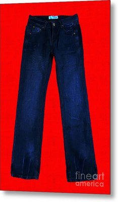 Pair Of Jeans 2 - Painterly Metal Print by Wingsdomain Art and Photography