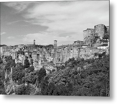 Palace And City Metal Print by Marco Di Fabio