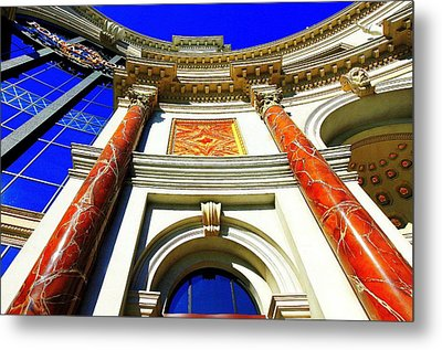 Palace Entrance IIi Metal Print by Linda Edgecomb
