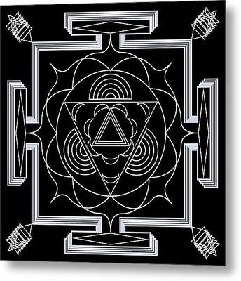 Metal Print featuring the digital art Palace Hypnosis by Mario Carini