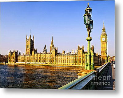 Palace Of Westminster From Bridge Metal Print by Elena Elisseeva