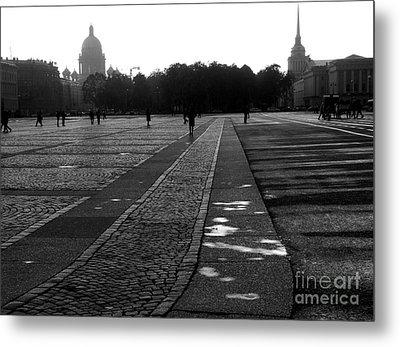 Palace Square In Saint Petersburg Metal Print by Design Remix