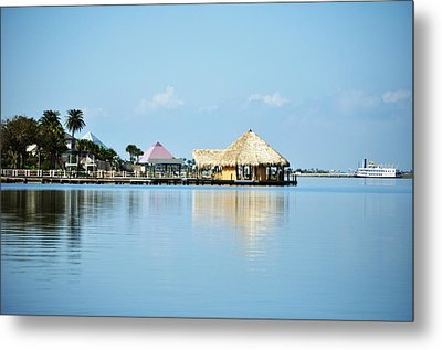 Metal Print featuring the photograph Palapa Over The Bayou by John Collins