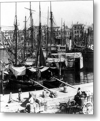 Palermo Sicily - Shipping Scene At The Harbor Metal Print by International  Images